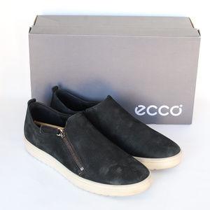 6a271d3113 ECCO Women's Fara Zip Fashion Sneaker Black Nubuck